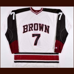 Late 1970's Brown University Game Worn Jersey - Player #7
