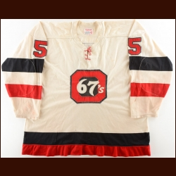 Early/Mid 1970's Ottawa 67's Game Worn Jersey – Player #5