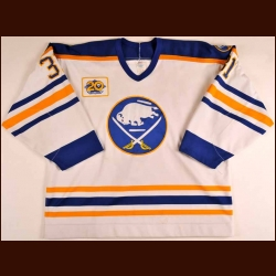 "1989-90 Darren Puppa Buffalo Sabres Game Worn Jersey - ""20-year Anniversary"" - Photo Match"