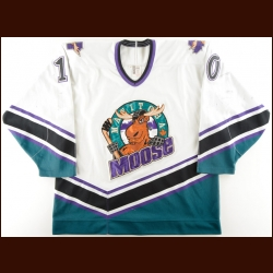 1996-97 Chris Kontos Manitoba Moose Game Worn Jersey – Team Letter