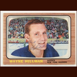 1966-67 Topps Wayne Hillman New York Rangers Autographed Card – Deceased
