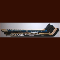 Lot of 6 New Jersey Devils Game Used Sticks - Team Letters