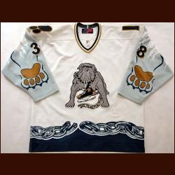 2000-01 Sergei Borodzin Long Beach Ice Dogs Game Worn Jersey