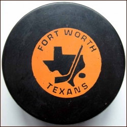 CHL Fort Worth Texans Old Style Logo Puck
