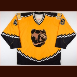 2002-03 Jonathan Girard Boston Bruins Game Worn Jersey – Alternate – Team Letter