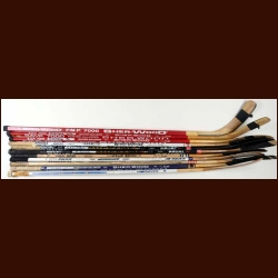 Lot of 10 Game Used Sticks – Includes Denis Savard and Tomas Sandstrom