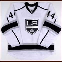2012-13 Robyn Regehr Los Angeles Kings Game Worn Jersey - Photo Match – Team Letter