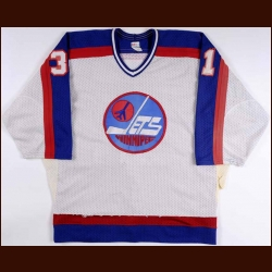 1984-85 Marc Behrend Winnipeg Jets Game Worn Jersey