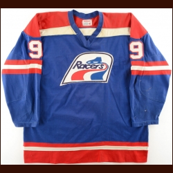 1976-77 Reg Thomas WHA Indianapolis Racers Game Worn Jersey – Photo Match