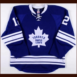 2011-12 Tim Connolly Toronto Maple Leafs Game Worn Jersey - Alternate - Team Letter