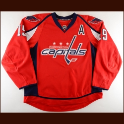 2008-09 Nicklas Backstrom Washington Capitals Game Worn Jersey - 2nd NHL Season - Photo Match – Team Letter