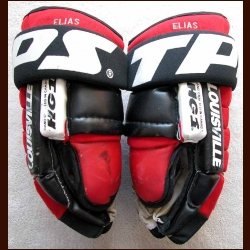 Circa 2000 Patrik Elias Devils Game Worn Gloves
