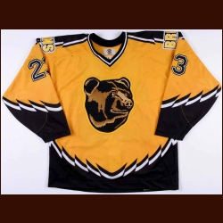 1996-97 Steve Heinze Boston Bruins Game Worn Jersey