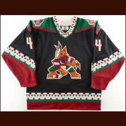1997-98 Norm Maciver Phoenix Coyotes Game Worn Jersey - Photo Match – Team Letter