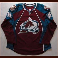 2007-08 Jordan Leopold Avalanche Game Worn Jersey - Team Letter
