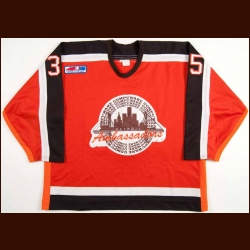 1995-99 Detroit Compuware Ambassadors Game Worn Jersey - Player #35 - 1999 National Gold Cup Championship Season - Team Letter