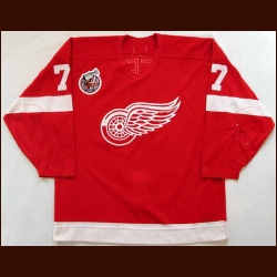 1992-93 Paul Coffey Red Wings Game Worn Jersey - Team Letter