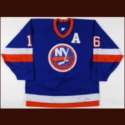 1987-88 Pat LaFontaine New York Islanders Game Worn Jersey - 1st All Star Season - Photo Match