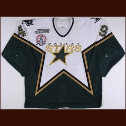 "1999-00 Jonathan Sim Dallas Stars Stanley Cup Finals Game Worn Jersey – ""2000 Stanley Cup Finals"" – Team Letter"