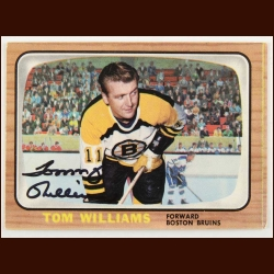 1966-67 Tom Williams Boston Bruins Autographed Card – Deceased