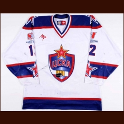 2005-06 Alexander Nikulin UCKA Central Red Army Game Worn Jersey