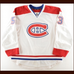 2013-14 Ryan White Montreal Canadiens Game Worn Jersey – Photo Match – Team Letter