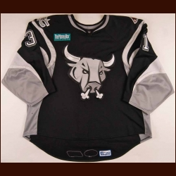 2007-08 David LeNeveu San Antonio Rampage Game Worn Jersey - AHL Letter