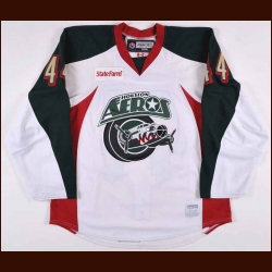 2009-10 Justin Falk Houston Aeros Game Worn Jersey – Team Letter