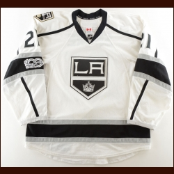 "2016-17 Nick Shore Los Angeles Kings Game Worn Jersey – ""50-year Anniversary"" – Team Letter"