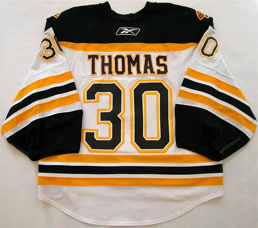 9b762732f 2008-09 Tim Thomas Boston Bruins Game Worn Jersey - 1st Team NHL All ...