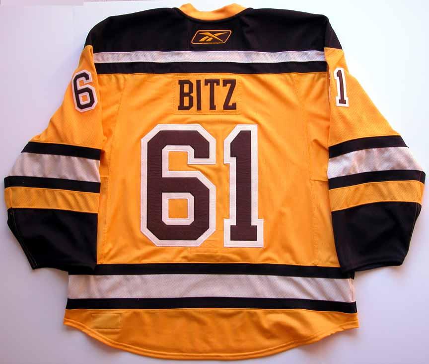 boston bruins gold jersey