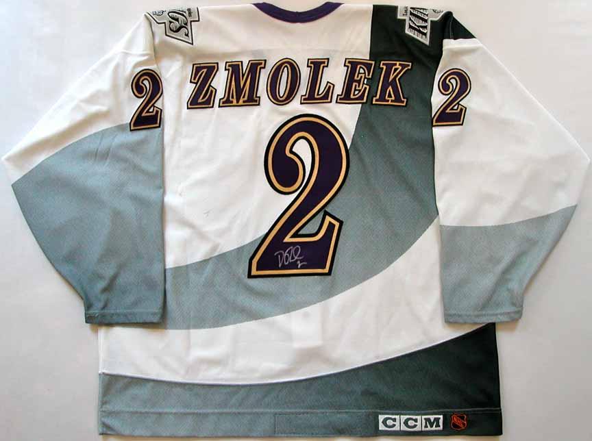 reputable site 1068a 531c4 1995-96 Doug Zmolek Los Angeles Kings Game Worn Jersey ...