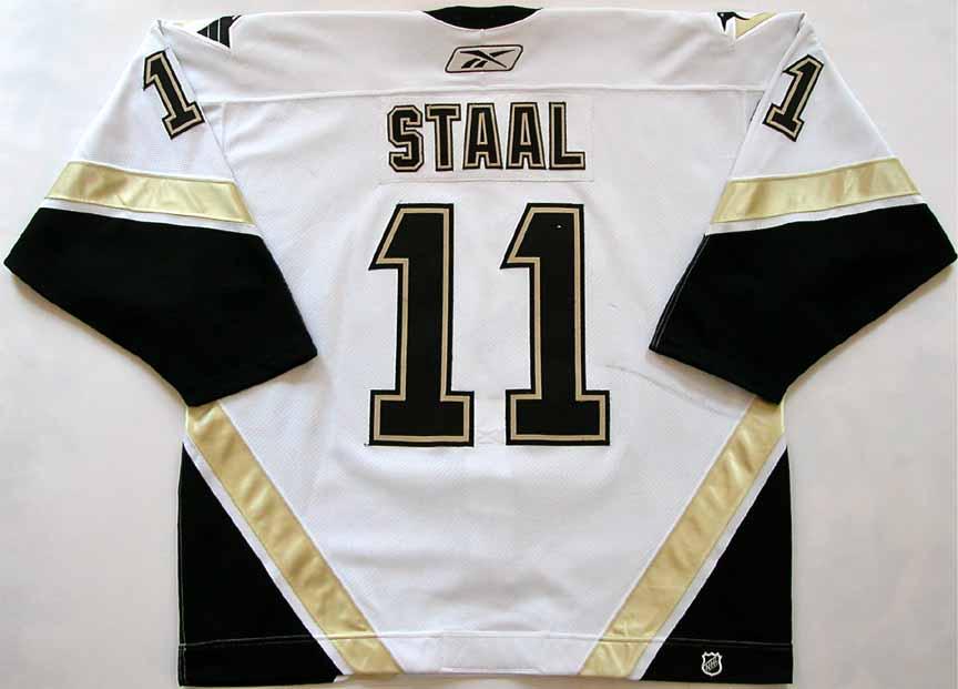detailed look ab999 cdeda 2006-07 Jordan Staal Pittsburgh Penguins Game Worn Jersey ...