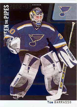 2002-03 Tom Barrasso St. Louis Blues Game Worn Jersey - NHL Letter:  GAMEWORNAUCTIONS.NET