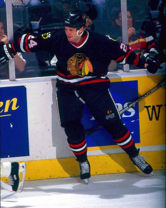 1998-99 Bob Probert Chicago Blackhawks Game Worn Jersey - Alternate ... 16e26ab6a