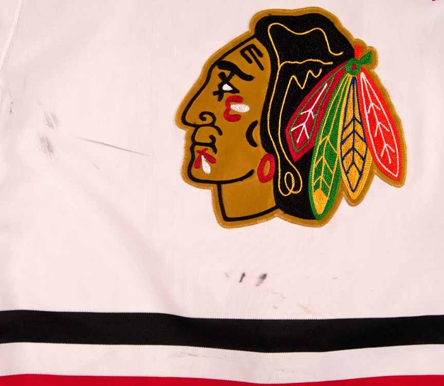 85b1248315f 1989-90 Denis Savard Chicago Blackhawks Game Worn Jersey - Video ...