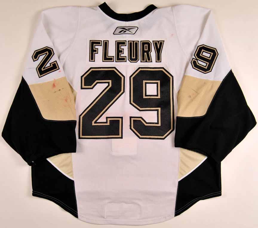 huge selection of 70981 b1dcf 2009-10 Marc-Andre Fleury Pittsburgh Penguins Game Worn ...