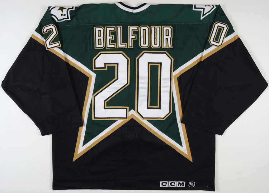 ed belfour dallas stars jersey