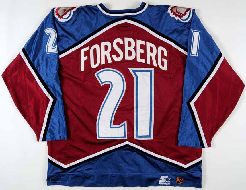 1996-97 Peter Forsberg Colorado Avalanche Game Worn Jersey - Team ... a1c56e8b069