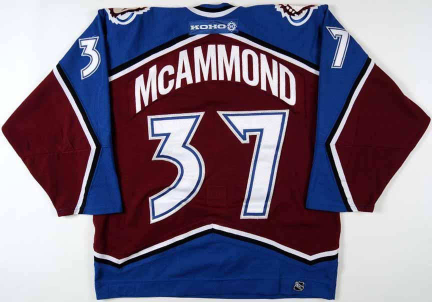 2002 03 dean mcammond colorado avalanche game worn jersey. Black Bedroom Furniture Sets. Home Design Ideas