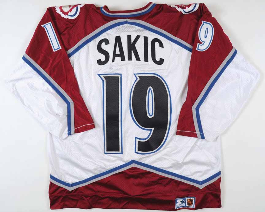 100% authentic 2ac6d 50626 1995-96 Joe Sakic Colorado Avalanche Game Worn Jersey ...