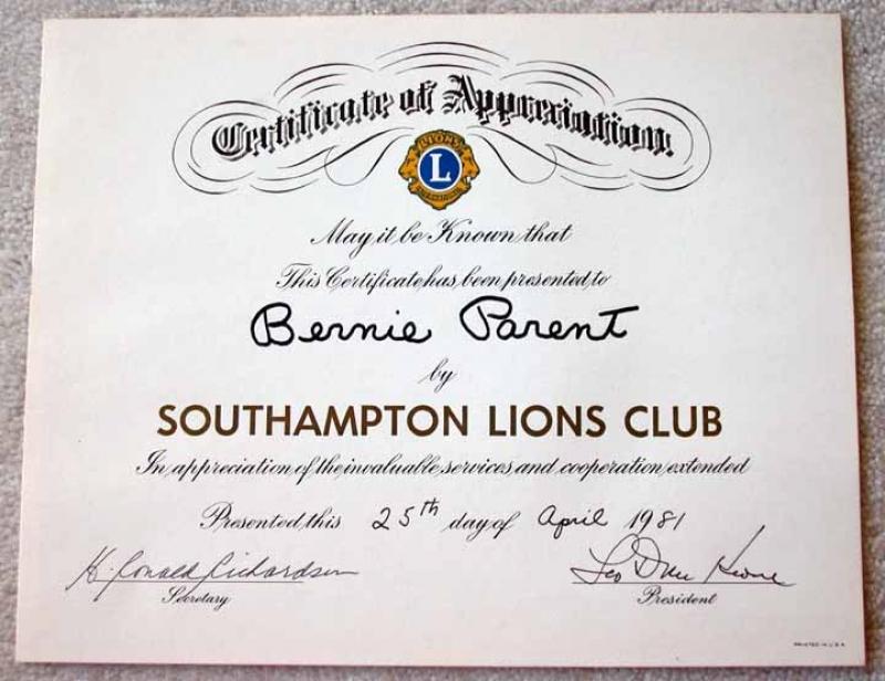 (5) Appreciation Certificates and Plaques - Parent Letter ...