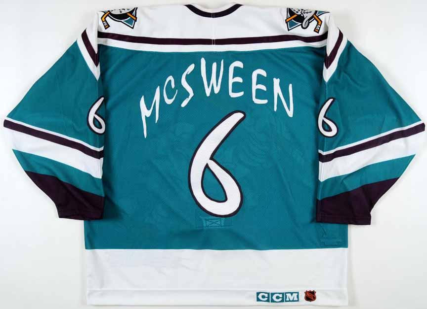 1995-96 Don McSween Anaheim Mighty Ducks Game Worn Jersey - Wild ... 56e93a48a