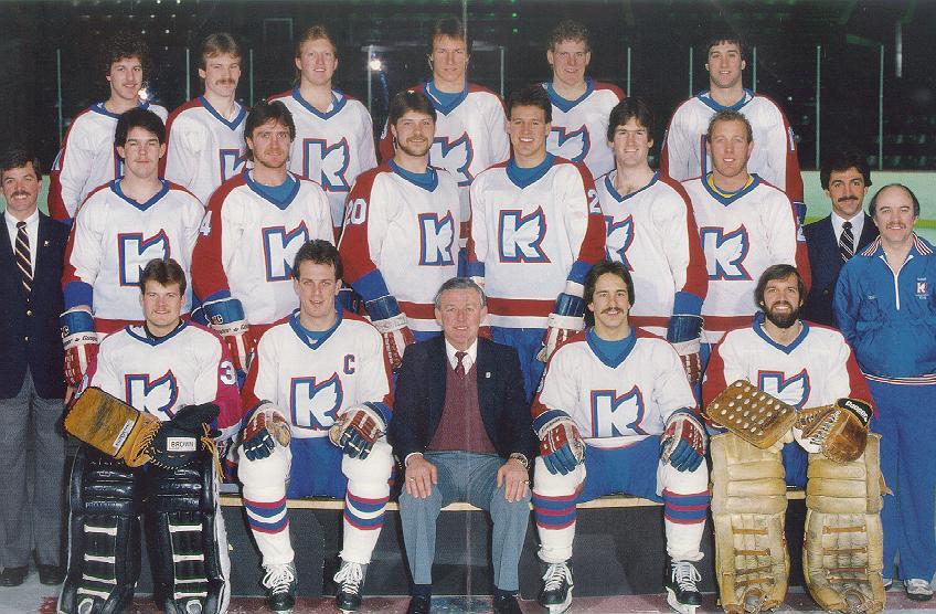 new style 66c59 b1eab 1984-85 Ron Hextall Kalamazoo Wings Game Worn Jersey ...