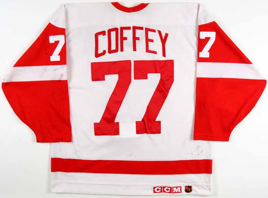 1994-95 Paul Coffey Detroit Red Wings Game Worn Jersey ... a19889c56