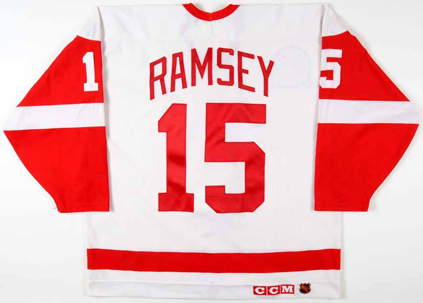 76cbce1a2 1994-95 Mike Ramsey Detroit Red Wings Stanley Cup Finals Game Worn ...