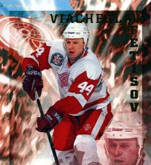 1994-95 Slava Fetisov Detroit Red Wings Game Worn Jersey ... ac4140a26