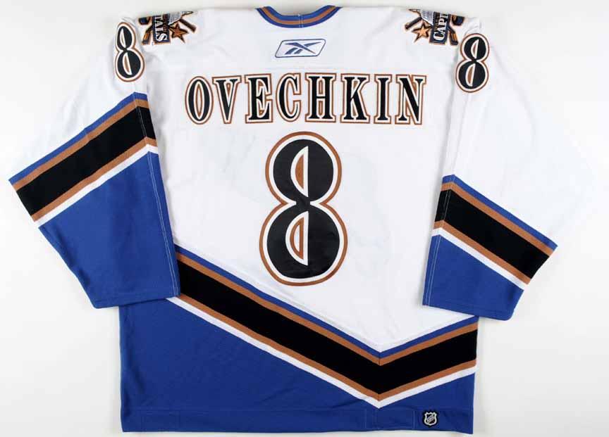 da21d610f9a 2005-06 Alex Ovechkin Washington Capitals Game Worn Jersey - Rookie ...