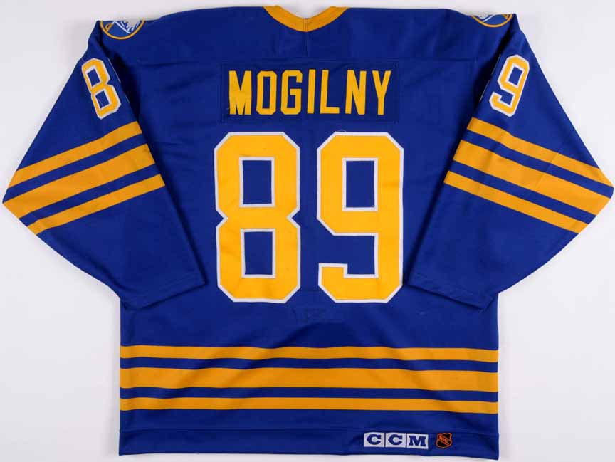 ... Mens Adidas Alexander Mogilny Authentic Navy Blue Home NHL Jersey  Buffalo Sabres 89 1994 Alexander Mogilny Buffalo Sabres Game Worn Jersey . 295fe6af8
