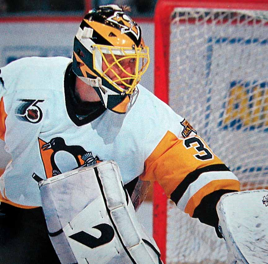 1991-92 Tom Barrasso Pittsburgh Penguins Game Worn Jersey ...